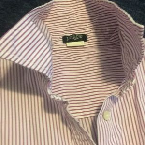 J Crew striped button down cotton shirt