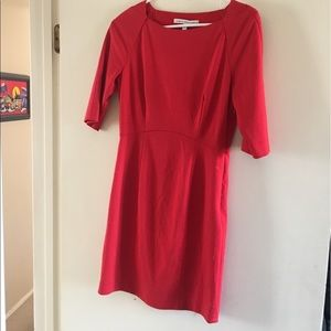 Seamline Cynthia Steffe red sheath dress
