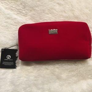 Giorgio Armani Bags - Giorgio Armani Red Velvet Cosmetics Bag   Products 57095224c5