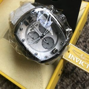 Invicta Men's Lupah Collection White Leather Watch