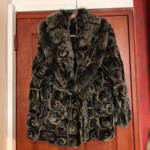 EUC genuine Rex Fur w/ Fox ! Worn ones! Size XL-14