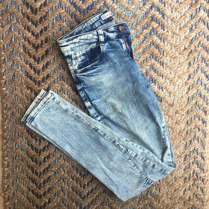 Zara trafaluc premium wash acid wash skinny jeans