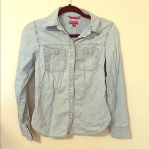 blue jean blouse/shirt