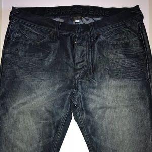 Express men's jeans. Button down. No zipper.