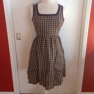 Jessica Simpson brown plaid dress
