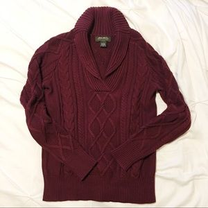 Eddie Bauer fisherman sweater