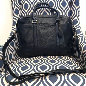 Pristine Black Coach slim Briefcase - authentic