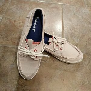 Timberland canvas deck shoes