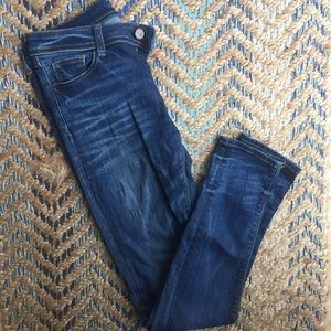 Zara skinny jeans mid rise medium wash 6