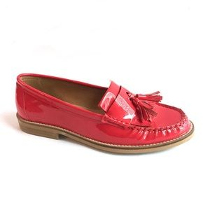 TOPSHOP Patent Leather Tassel Loafers \\ Sz 6