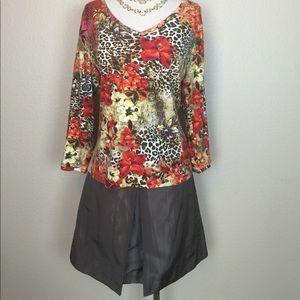 Taupe Silk J. Crew Skirt