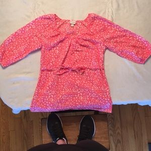 Pink 3/4 length blouse from Target