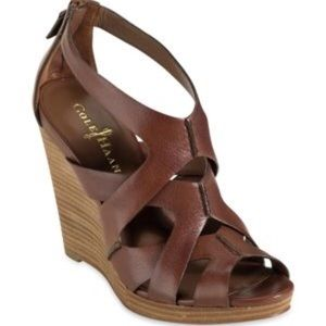 Cole Haan Air Kimry Open-Toe Wedge, sz 5