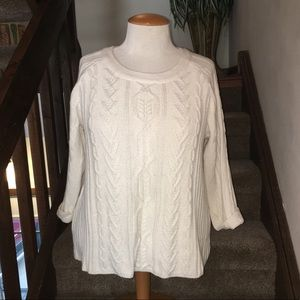 Coldwater Creek Plus Cable Knit Sweater