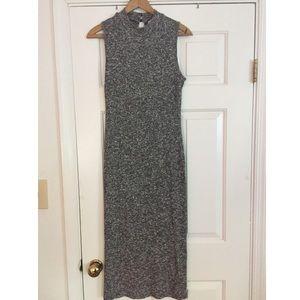 Monteau Ribbed Bodycon Midi Sleeveless Dress