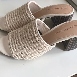 Shoes - Open toe mules in cream