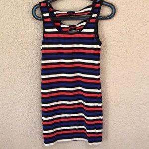 Red White Blue Stripe Bodycon Tank Dress