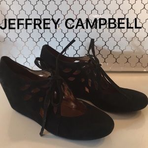 ⭐️JEFFREY CAMPBELL SUEDE WEDGES 💯AUTHENTIC