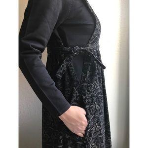 [vintage] corduroy pinafore apron dress