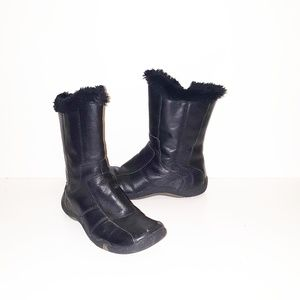 Fur Lined Moto Boots