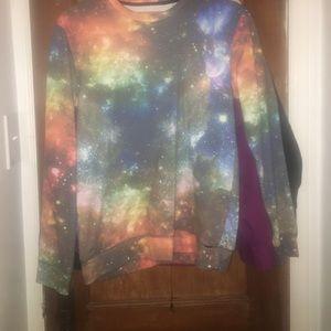 Galaxy print On The Byas SweatShirt