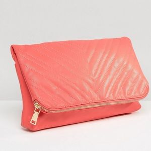 Oversized Coral Clutch