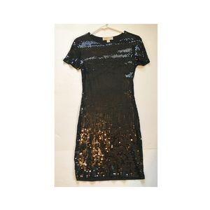 XS Black sequin Michael Kors dress