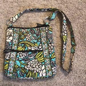 Blue floral Vera Bradley sling purse