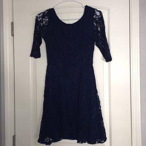 Lush navy lace dress
