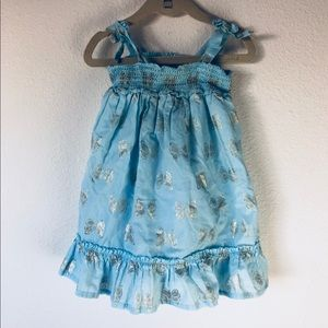 🦋 pastel blue sundress size 18-24 baby girl