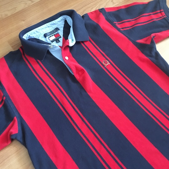 8232b2d8 Vintage Tommy Hilfiger vertical stripes polo shirt.  M_5a15deabeaf030979703ea73