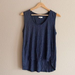 Madewell Navy Blue Tank Top Sz L Viscose Boho