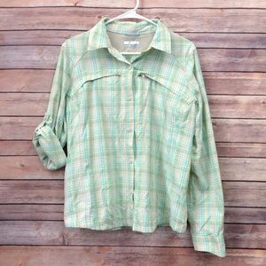 Columbia Omni-Shade Multicolor Plaid Shirt