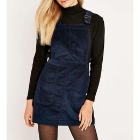 639d1c8d80 Dark blue corduroy overall dress. M 5a15df9fa88e7d54f603ebab