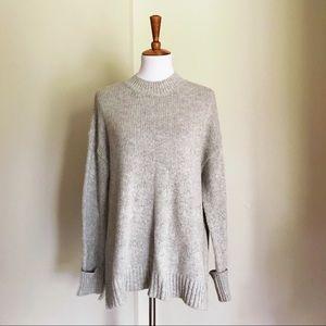 BDG • Oversized Light Gray Mock Neck Sweater