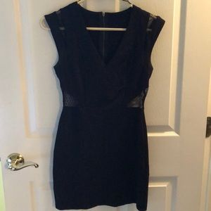 Black cut out mesh dress-FOREVER21