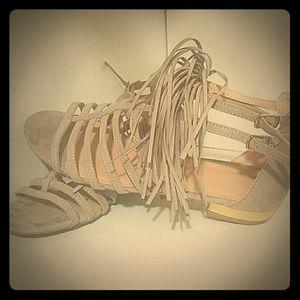 Fridge gold heel sandals