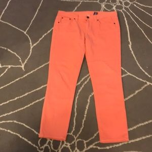 J crew light peach colored jeans size 30