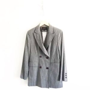 Express Oversized Gray Double Breasted Blazer