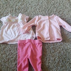 Carter's pink 3pcs set
