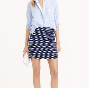 J. Crew Printed Mini Skirt XS/2
