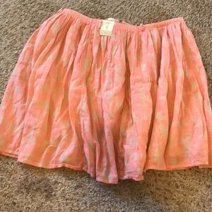 Pink and cream skirt