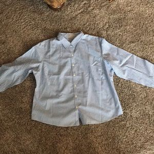 Women's Button Down Shirt.