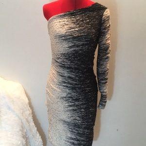 {Halston Heritage} one shoulder ruched dress