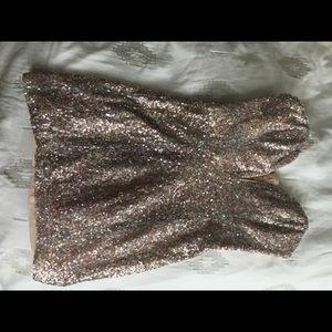 Low-Cut, Sequin, Mini Dress