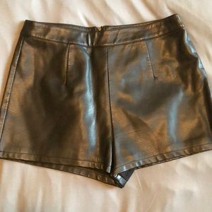 Forever 21 Pleather Shorts