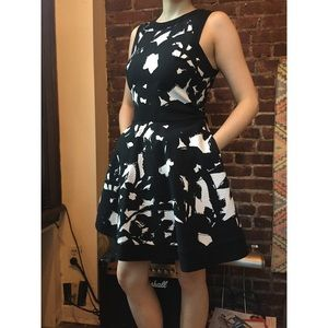 Like new - Textured Fit and Flare Dress