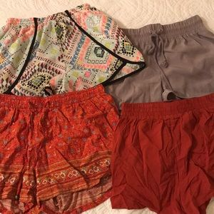 Pants - Four pairs of cute shorts.