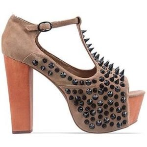 Jeffrey Campbell Foxy Front Spike Heeled Sandals