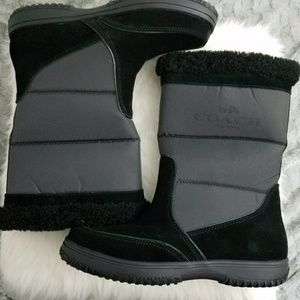 Coach Sherman Suede and Nylon Winter Boots sz 8.5
